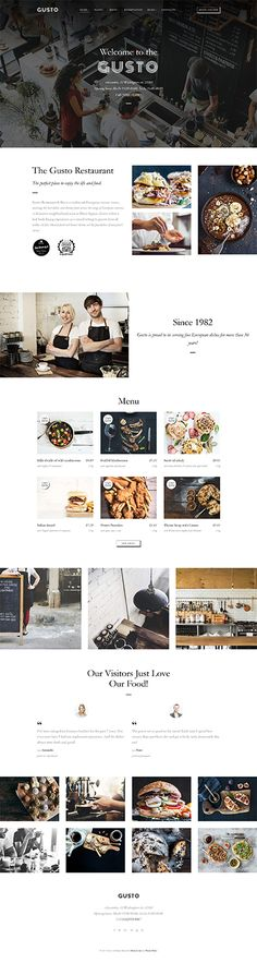 Template 61150 - Gusto - Cafe & Restaurant Responsive Wordpress Theme