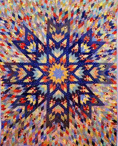 Pieced Quilt Star Burst 1940 Michigan by SurrendrDorothy, via Flickr  Lots of work, but very fun.
