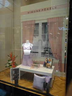 Our beautiful window display in Dubai featuring Fall Winter '12 lingerie by Simone Perele www.klynn.com