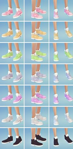 Shoes retextures by Kabbie at Krabbie