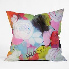 Natalie Baca Peace Of Mind Throw Pillow   DENY Designs Home Accessories
