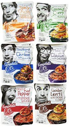 Campbells Go Soup Variety Pack 14 Ounce Pack of 6 ** You can find more details by visiting the image link.