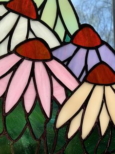 Modern Stained Glass Panels, Stained Glass Quilt, Stained Glass Light, Making Stained Glass, Stained Glass Flowers, Stained Glass Projects, Stained Glass Patterns Free, Stained Glass Designs, Painting On Glass Windows