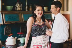 The finished product! Argyle, Knickers, Polka Dots and Pearls: Our Retro Engagement Shoot with Jessica D'Onofrio