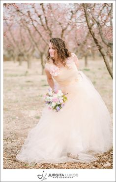 Spring Bridal | Treva|Jurgita Lukos PhotographySpring Bridal | Treva|Jurgita Lukos Photography Wedding dress made from nude tulle, beautiful flowers by   #3leaffloral. Location - Palisade orchards in Colorado.