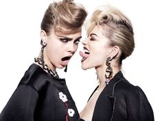 Cara Delevingne Joins Rita Ora for Hunger TVs Facemelt Dirty Music Video - Fashion Gone Rogue: The Latest in Editorials and Campaigns