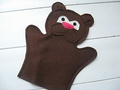 Teddy bear puppet FREE  Pattern and Tutorial