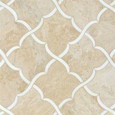 Talya Multi Finish Gaia Di D Marble Waterjet Mosaics 13 7/16x13 7/8