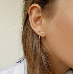 Tiny minimalist silver earrings, tiny studs, sterling silver earrings handmade, small earring set, m Bridal Earrings, Crystal Earrings, Sterling Silver Earrings, Gold Earrings, Silver Necklaces, Gold Bracelets, Silver Jewelry, Tassel Earrings, 925 Silver
