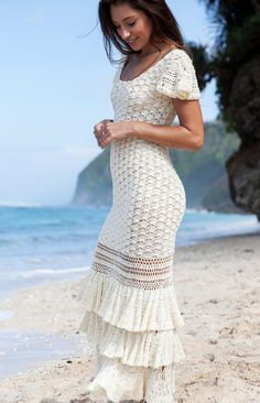 Free and Summer and winter Crochet Dress patterns for beginner Part 18 ; crochet dress for women; Crochet Wedding Dresses, Crochet Bodycon Dresses, Black Crochet Dress, Wedding Dress Patterns, Knit Dress, Crochet Wedding Dress Pattern, Dress Wedding, Beau Crochet, Mode Crochet