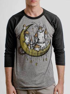 ba6f7842 Moon Castle - Multicolor on Heather Grey and Black Triblend Raglan - Curbside  Clothing Heather Grey