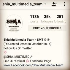MASHALLAH SHUKAR E MOLA  35k (35000)  Followers Complete On  Shia Multimedia Team  Official Instagram I'd  JAZAKALLAH To  All Momneen & Followers Keep  Following Us @Shia_Multimedia_Team  Shia Multimedia Team - SMT Official Facebook Page & Website:  http://ift.tt/1L35z55  Official Website: http://ift.tt/1sGYLW0  Stay Connected With  Shia Multimedia Team - SMT On Social Media  Join On Snapchat! Username: azadarhussain  http://ift.tt/29H9rgV  Like Our New Facebook Page Urdu Punjabi & Saraiki…