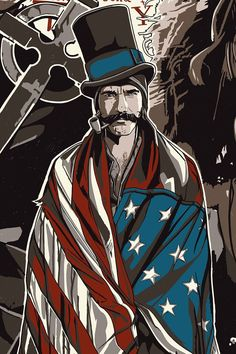 The Dark Inker Gangs of New York Bill the Butcher detail shot