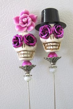 Day of the Dead Cake Topper Giant Purple by sweetie2sweetie, $26.99