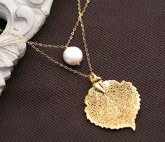 Double layerGold filledCoin pearl by tyrahandmadejewelry on Etsy - StyleSays