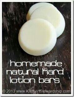 Homemade lotion bar
