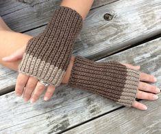 Fingerless gloves Knit Gloves Wrist Warmers by WendysWonders127
