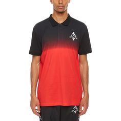 Kappa Gradient polo from the S/S2018 Marcelo Burlon County of Milan collection in red