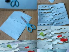 collage: the sea - Anne Volperi - - Collage la mer collage: the sea … Sea Crafts, Diy And Crafts, Crafts For Kids, Arts And Crafts, Paper Crafts, 3d Collage, Animal Crafts, Summer Crafts, Preschool Crafts