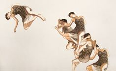 Leah Yerpe is talented artist who lives and works in Brooklyn, New York. She is fascinated by the body in motion and offers us with her drawings and paintings visually stunning compositions.