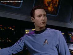 The Star Trek: TNG crew looks amazing in Original Series uniforms....Data