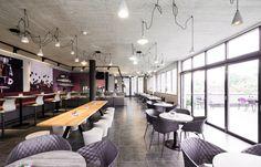 sky & sun café - Möbelbau Breitenthaler, Tischlerei Sun Cafe, Conference Room, Table, Furniture, Home Decor, Carpentry, Decoration Home, Room Decor, Tables