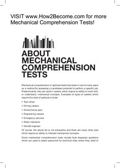 How To Pass Mechanical Comprehension Tests  Aptitude Test Free
