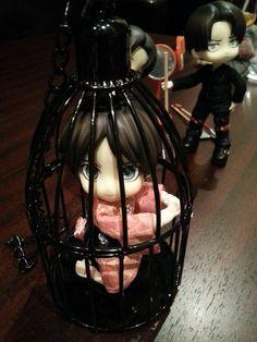 松下さんのエレンを閉じ込めw この鳥籠使えますw #オビツろいど