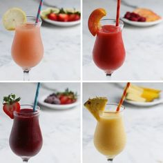 Kick Off Your Summer The Right Way With These 4 Frozen Sangrias Summer Sangria 4 Ways. Watch video & recipes make way more sense, definitely trying this weekend… Frozen Sangria, Summer Sangria, Frozen Drinks, Summer Cocktails, Cocktail Drinks, Wine Cocktails, Party Drinks, Fun Drinks, Alcoholic Drinks
