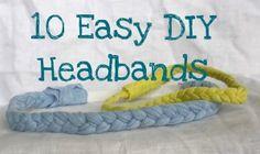 10 Easy DIY Headbands