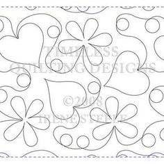 HEARTS IN BLOOM LG   Machine Quilting Design   Paper   Timeless Quilting