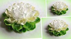 Цветы из лент 2,5 см, канзаши Мк