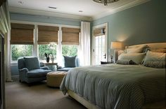 Benjamin Moore® Aura® Paint - Woodlawn Blue HC-147 (color: http://www.benjaminmoore.com/en-us/paint-color/woodlawnblue)