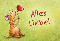 Alles Liebe! - Mini Cards - Grafik Werkstatt Bielefeld