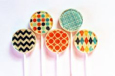 "These are awesome lollipops!  Retro fashion edible images hard candy lollipops -  2"" lollipops - 5 pc. - MADE TO ORDER. $12.00, via Etsy."