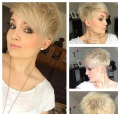 Short Spikey Hairstyles with Side Bangs