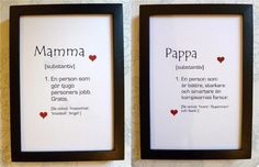 Typografi SET Väggord MAMMA + PAPPA!, föräldrar kärlek Quotes To Live By, Life Quotes, Swedish Language, Best Qoutes, Boring Day, Romantic Quotes, Creative Cards, Funny Texts, Feel Good
