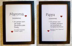 Typografi SET Väggord MAMMA + PAPPA!, föräldrar kärlek Quotes To Live By, Life Quotes, Swedish Language, Best Qoutes, Boring Day, Romantic Quotes, Creative Cards, Funny Texts, Haha