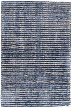 Cut Stripe Indigo Hand Knotted Wool/Viscose Rug $15.00 - $2,696.00