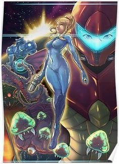 Not done a Metroid illustration in a long time. Seeing as Nintendo are dishing out some Metroid love, I thought I would too Done in Photoshop in abo. Metroid Samus, Metroid Prime, Samus Aran Zero Suit, Samus Zero, Cyberpunk, Super Metroid, Video Games Girls, Girls Anime, Fanart