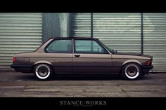 You don't see too many E21s around anymore. Let alone a stanced E21.