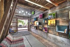Library in Thailand Made From Reclaimed Materials