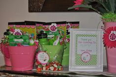 Pink & green Ladybugs Birthday Party Ideas | Photo 11 of 35 | Catch My Party