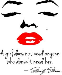 Marilyn Monroe Red Lips Wall Decal A girl does by WallPressions, $11.99