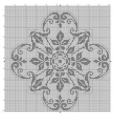 Square 15 | Free chart for cross-stitch, filet crochet | Chart for pattern - Gráfico