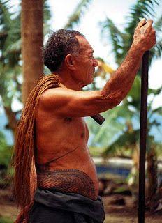 The Art of Tatau. Traditional pe'a.