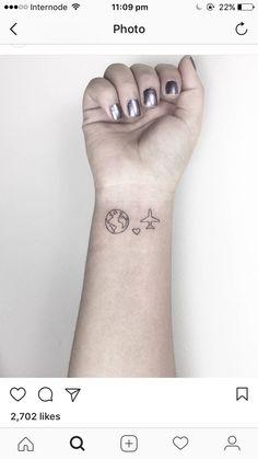 Map Tattoos, Wrist Tattoos, I Tattoo, Cool Tattoos, Tatoos, Wanderlust Tattoos, Thailand Tattoo, Infinity Tattoos, Tattoo Sketches
