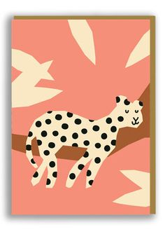 Anna Kövecses Leopard Greetings Card