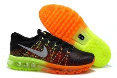 meet 69b2a 97eee Nike Air Max 2014 Flyknit Orange Green Black Grey, cheap Mens Air Max If  you want to look Nike Air Max 2014 Flyknit Orange Green Black Grey, ...