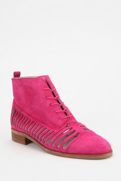 Plomo Yvonne Side-Slit Suede Ankle Boot
